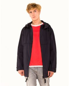 G-sus hooded Wax Jacke, marine