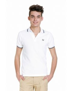 Fred Perry Poloshirt, weiß