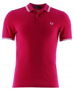 Fred Perry Poloshirt, rot